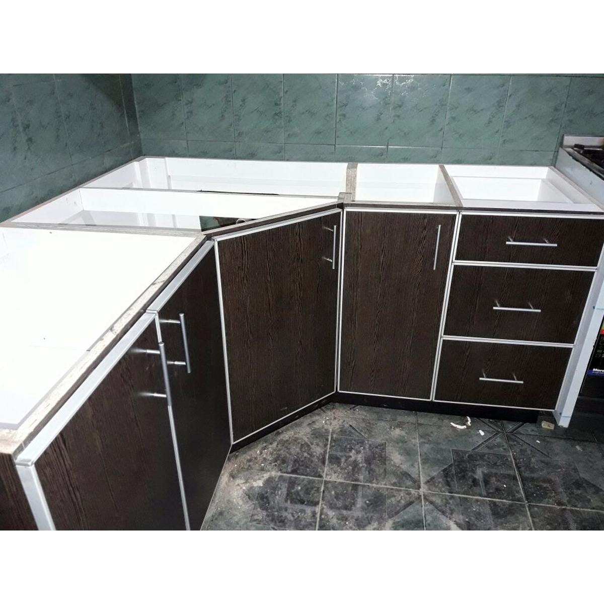 Muebles de cocina alacena y bajo mesada modelo 04 for Modelos de muebles de cocina altos y bajos